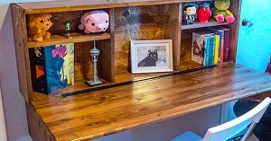 DIY Fold Down Wall Mounted Desk
