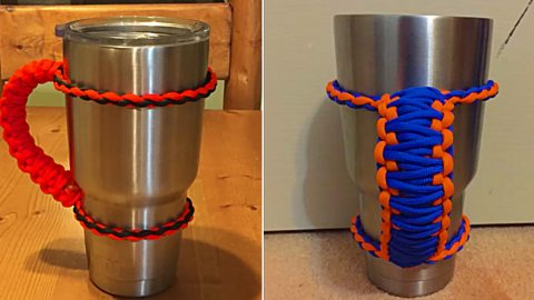 Ten Minute Paracord Yeti Handle | DIY Joy Projects and Crafts Ideas