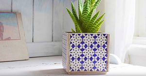 How to Make A Planter from 5 Tiles