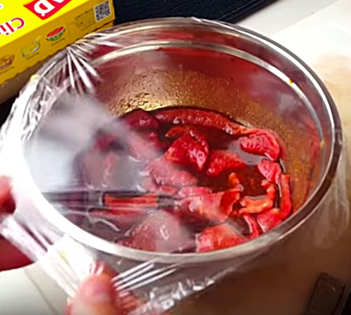 Make Air Fryer Beef Jerky with a soy sauce marinade