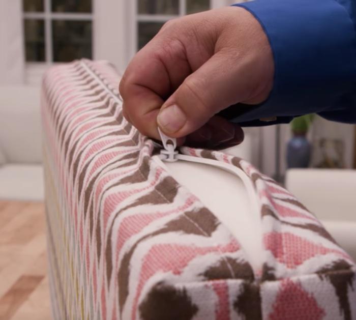 Make a zipper box cushion with your new machine