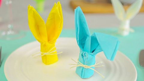 How To Fold A Bunny Napkin   DIY Joy Projects and Crafts Ideas