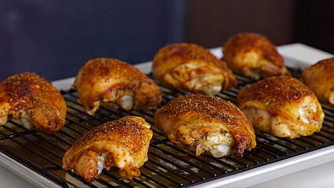 Oven Roasted Crispy Chicken Thighs Recipe | DIY Joy Projects and Crafts Ideas