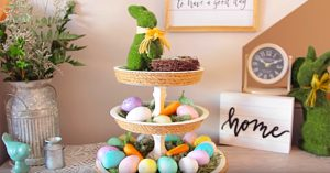 Dollar Tree DIY Easter Tier Tray