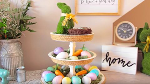 Dollar Tree DIY Easter Tier Tray   DIY Joy Projects and Crafts Ideas