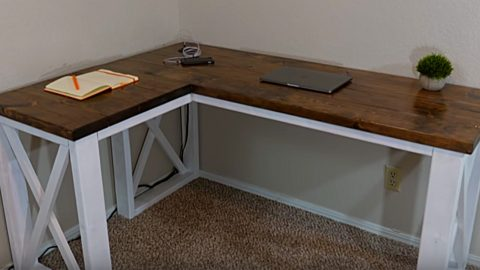 Diy Farmhouse Computer Desk For Under 100