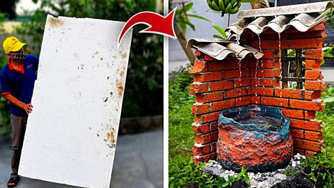 DIY Garden Waterfall From Styrofoam | DIY Joy Projects and Crafts Ideas