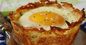 Hash Brown Breakfast Cups Recipe