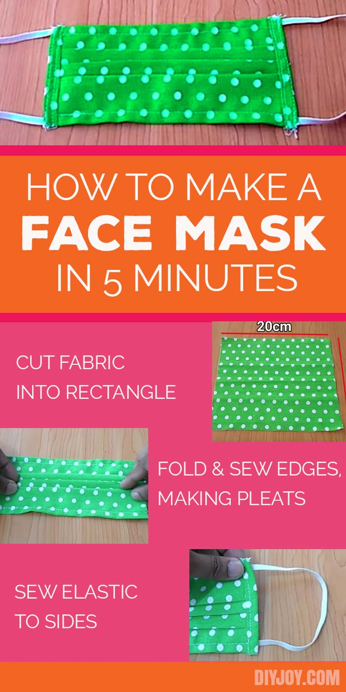 How to Make A Face Mask - DIY Face Mask Sewing Tutorial - Easy Masks to Make from Fabric - DIY Masks With Step by Step Tutorial and Pattern to Sew