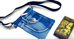 How To Make A Recycled Jean Crossbody Bag