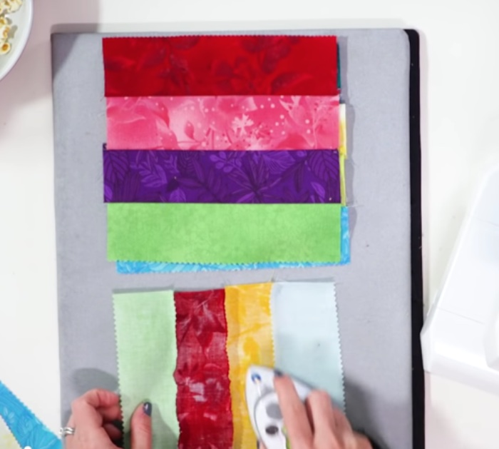 Easy quick quilt using jelly rolls