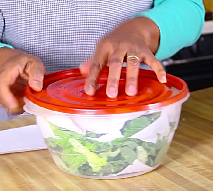 Keep salad greens fresh for a longer period of time