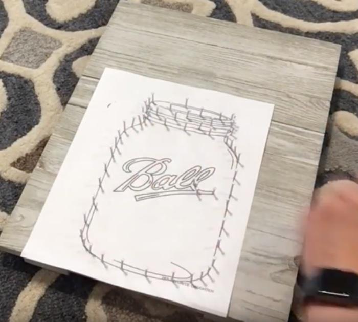 How to make Mason Jar String Art