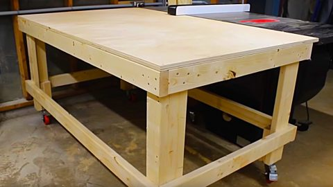 How To Make A 1 Hour Mobile Workbench | DIY Joy Projects and Crafts Ideas