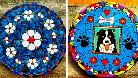 How To Make A Mosaic Stepping Stone | DIY Joy Projects and Crafts Ideas