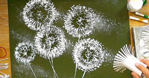 How To Paint Dandelions With Empty Toilet Paper Rolls