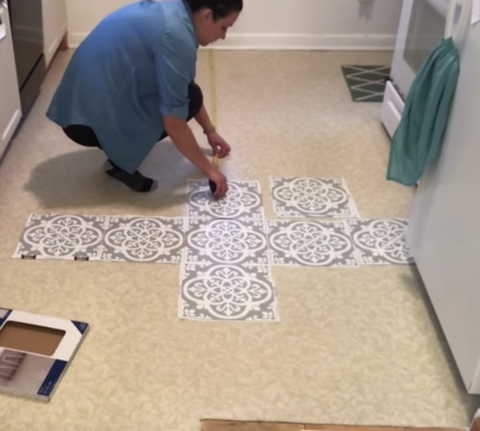 Transform floors with peel and stick tiles