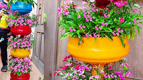 How To Make A Plastic Bottle Tiered Planter | DIY Joy Projects and Crafts Ideas