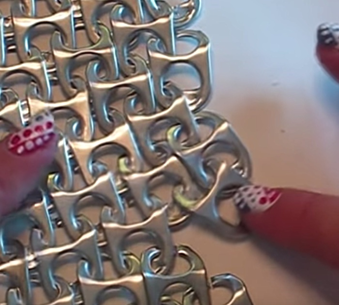How to make chainmail from the tops of soda cans