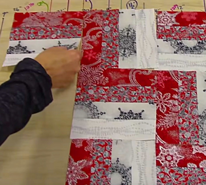 How to make a rail fence table runner quilt top