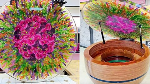 Resin Flower Table With A Flip Top Bar | DIY Joy Projects and Crafts Ideas