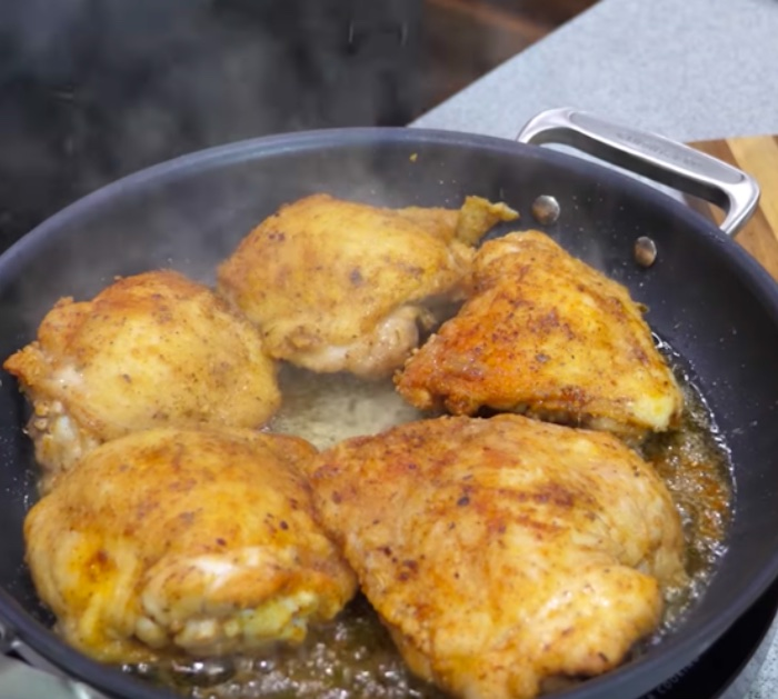 Try Grillin and Smokin Wit AB smothered chicken