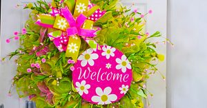 How To Make A Spring Welcome Wreath