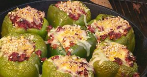 Ground Beef And Smoked Sausage Stuffed Peppers Recipe
