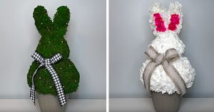 Dollar Tree Easter Bunny Topiary