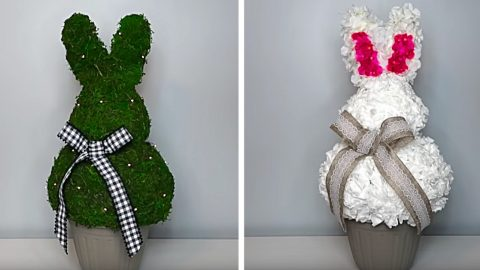 Dollar Tree Easter Bunny Topiary | DIY Joy Projects and Crafts Ideas
