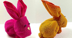 How To Make An Easter Bunny From A Washcloth