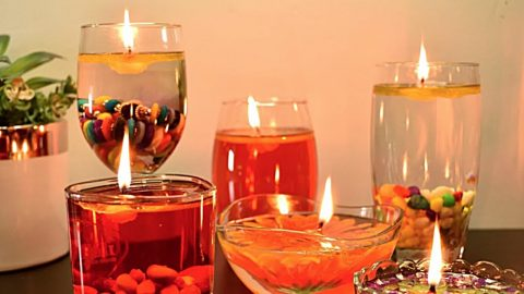 How To Make Water Candles | DIY Joy Projects and Crafts Ideas