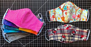 15-Minute Fabric Mask With A Free Pattern