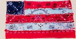 How To Sew A Rag Flag Placemat With Bandanas