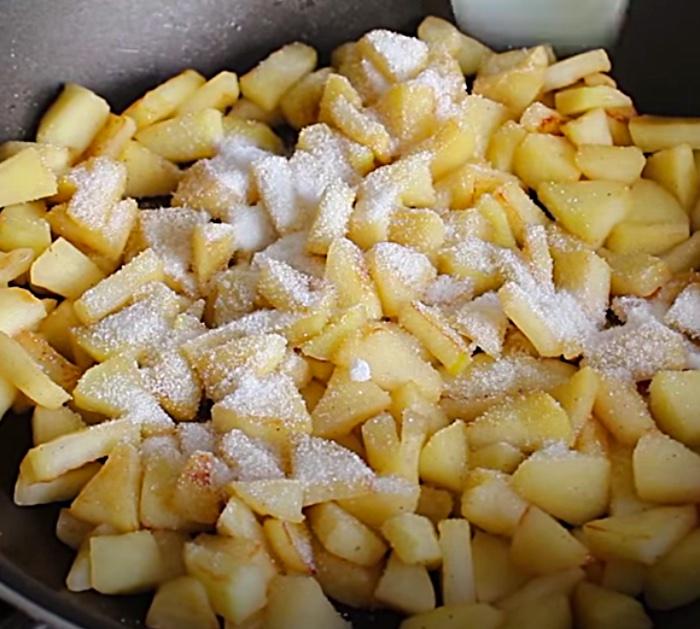 Make apple fritters with apple cider batter