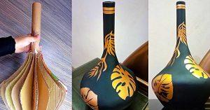 How To Make A Cardboard Vase