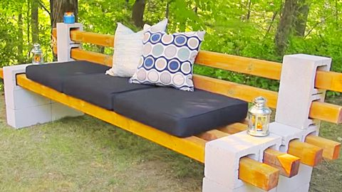 How To Make A Cinder Block Bench | DIY Joy Projects and Crafts Ideas