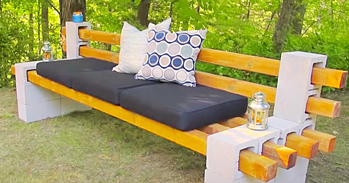 How To Make A Cinder Block Bench, Cinder Block Patio Furniture
