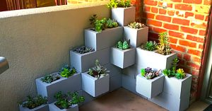How To Make A Cinder Block Succulent Tower