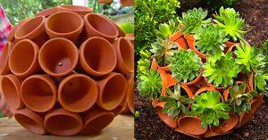 DIY Clay Pot Garden Art