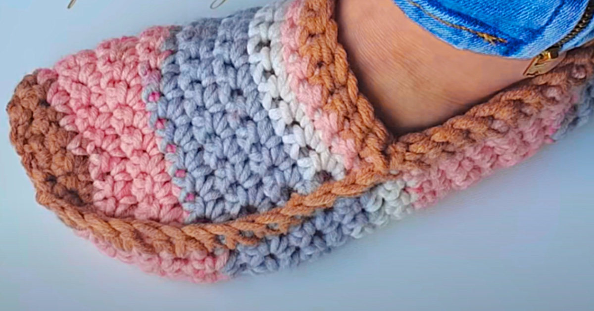 How To Make Crochet Moccasin Slippers