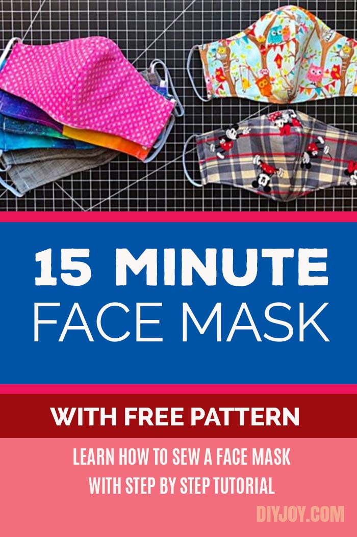 Easy DIY Face Mask - Free Pattern for Making Homemade Face Masks from Fabric - Step by Step Sewing Instructions