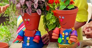 How To Make Flower Pot People