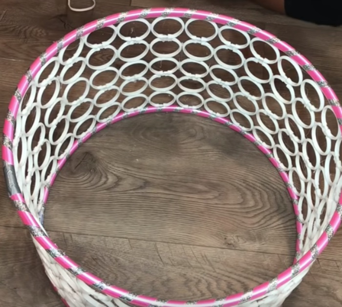 How To Make A Hula Hoop Coffee Table For $20