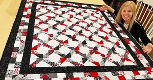 Jagged X Layer Cake Quilt With Free Pattern