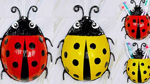 How To Make A Ladybug Toothbrush Holder | DIY Joy Projects and Crafts Ideas