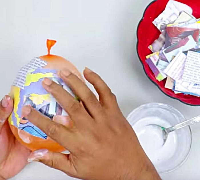 Make a ladybug toothbrush holder