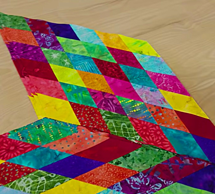 Make a rainbow lone star quilt with a jelly roll