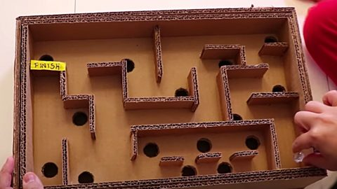 How to Make A Maze Board Game From Cardboard   DIY Joy Projects and Crafts Ideas