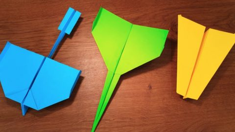 How To Make 5 Paper Airplanes That Fly Far | DIY Joy Projects and Crafts Ideas